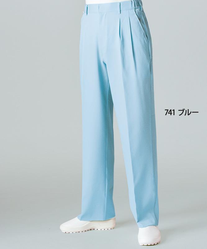 パンツメンズ(ツータック・両脇ゴム)[住商モンブラン製品] 7-74
