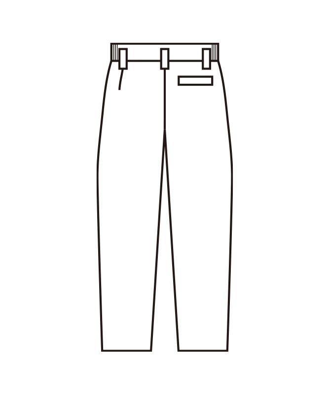 千鳥格子スラックス[男女兼用][KAZEN製品] 830-91