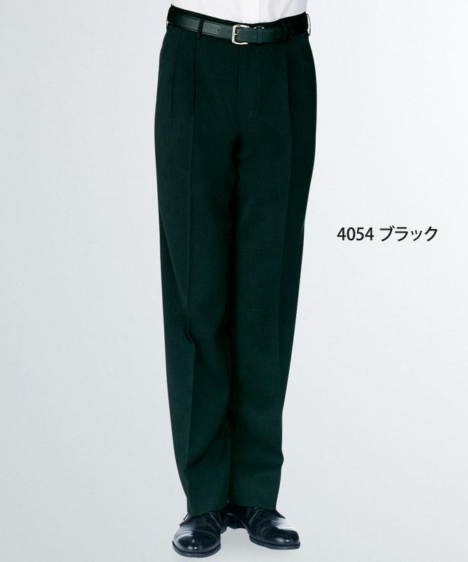 メンズスラックス(股下フリー・ツータック)[KAZEN製品] APK4054