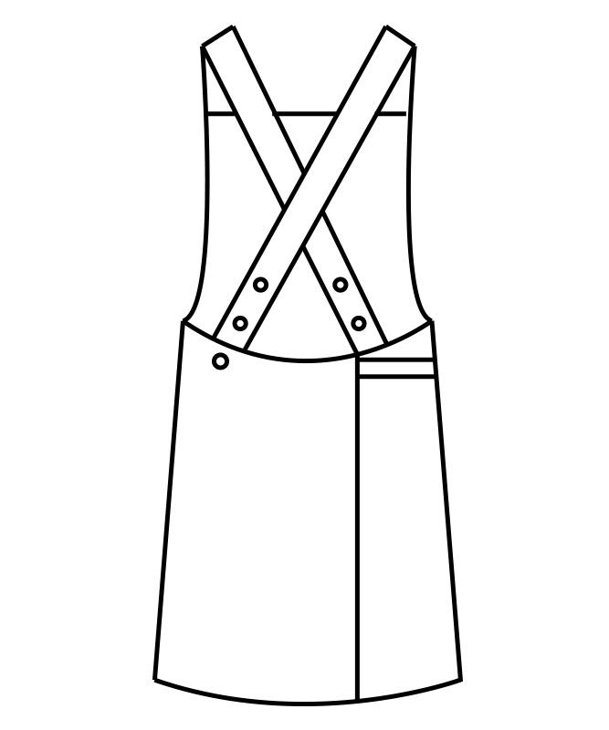 制電ギャバエプロン(ラップタイプ)[男女兼用][住商モンブラン製品] 5-76