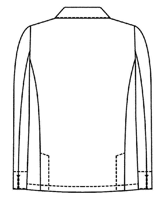 衿付きコックコート長袖[男女兼用][KAZEN製品] 618