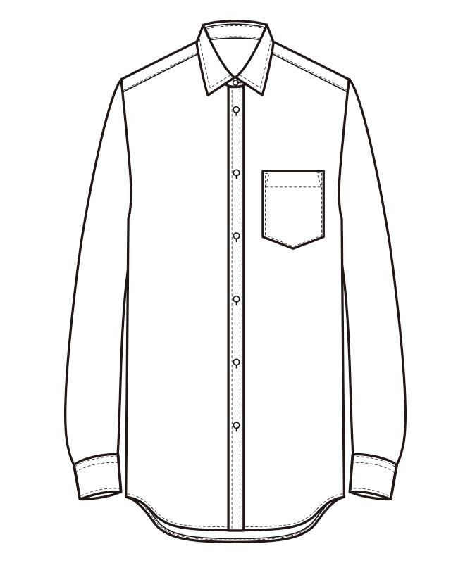 シャツ長袖[男性用][セブンユニフォーム製品] CH4416