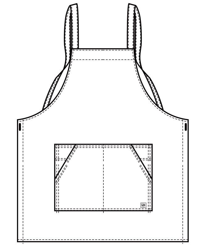 Lee胸当てエプロン(X型)[男女兼用][ボンマックス製品] LCK79003