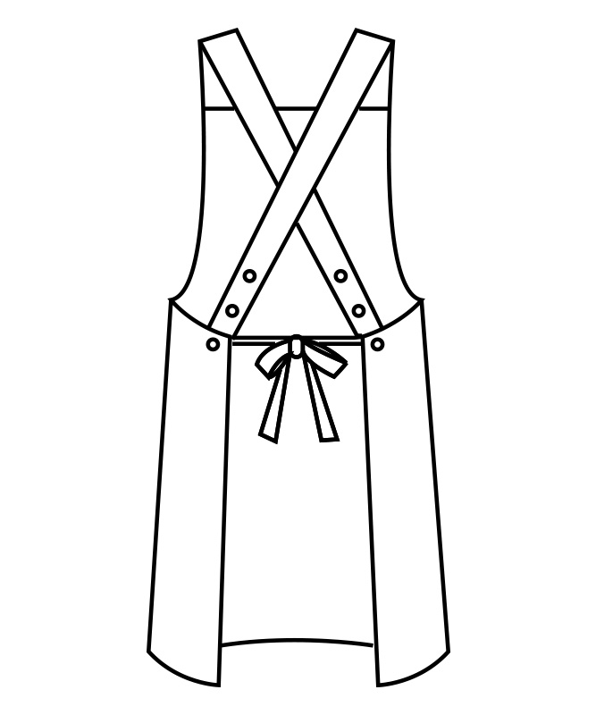 制電ギャバエプロン[男女兼用][住商モンブラン製品] 5-77