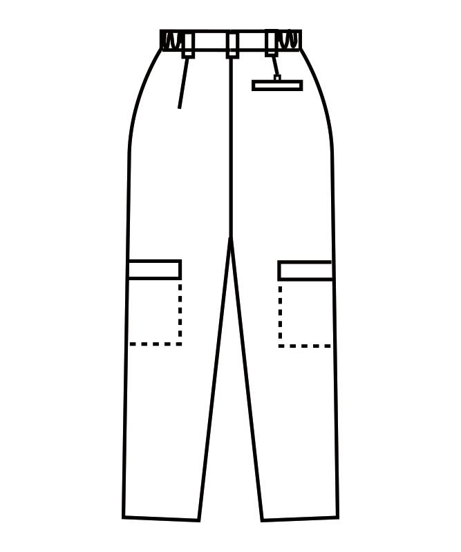 カーゴパンツ(両脇ゴム)[男女兼用][住商モンブラン製品] 7-78