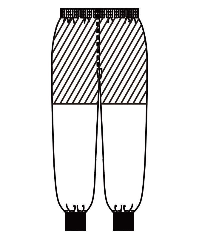 エコエスタースラックス[男女兼用][KAZEN製品] 839-7