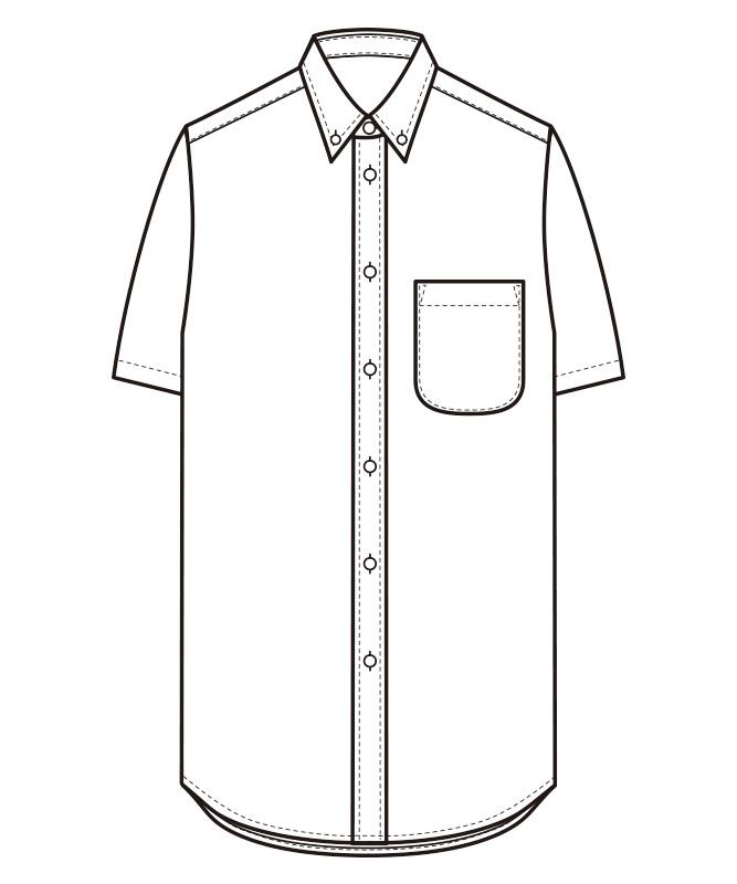 ボタンダウンシャツ半袖[男女兼用][セブンユニフォーム製品] CH4461
