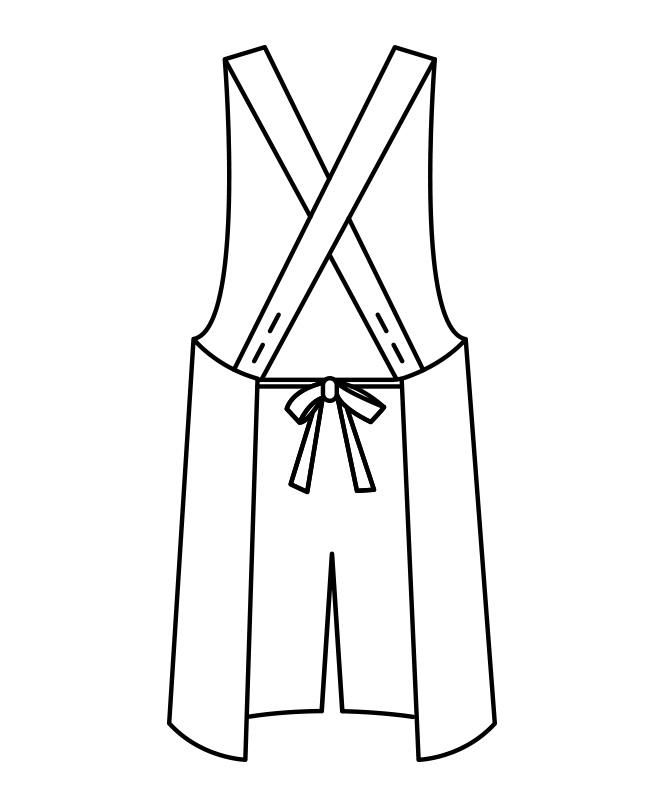 制電ギャバエプロン[男女兼用][住商モンブラン製品] 5-81