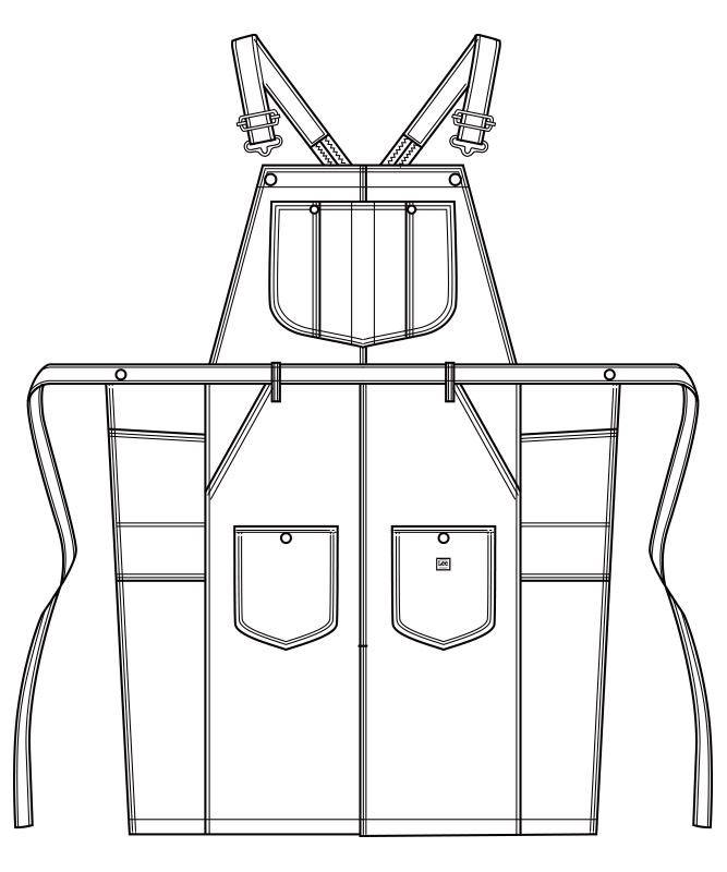Leeオーバーオールエプロン[男女兼用][ボンマックス製品] LCK79007
