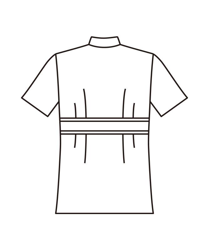 ポプリンレディス調理衣半袖[KAZEN製品] 338-70