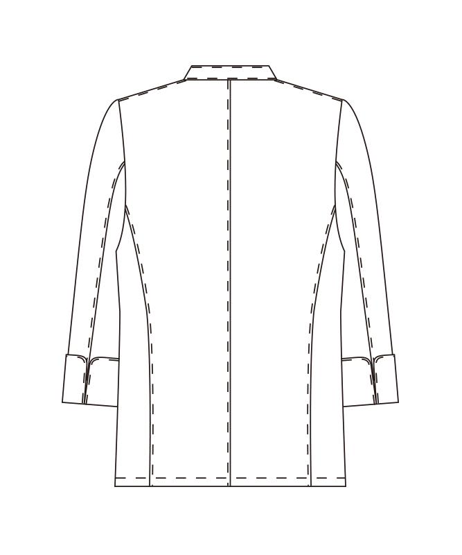 チーフシェフコート長袖[男女兼用][チトセ製品] AS5924