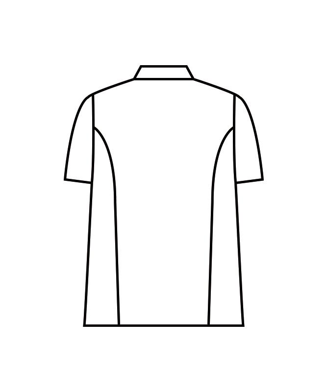 カツラギコックコート半袖[男女兼用][住商モンブラン製品] KS6622-2