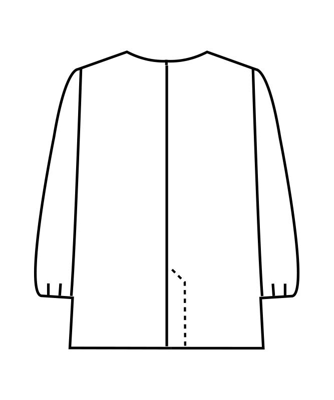 調理衣レディス(ゴム入り)長袖[住商モンブラン製品] 1-011