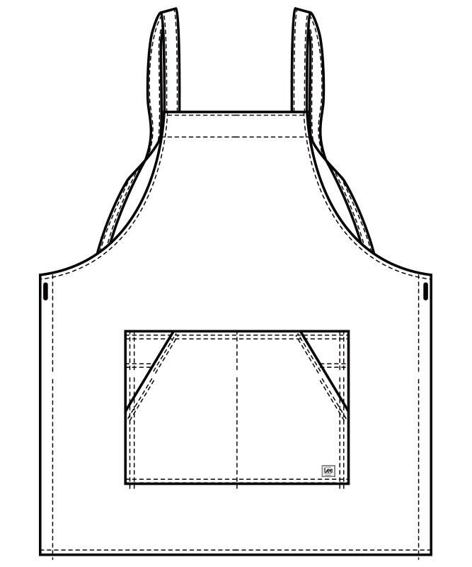 Lee胸当てエプロン(X型)[男女兼用][ボンマックス製品] LCK79009