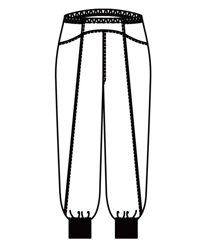 マタニティ用パンツ[KAZEN製品] 847-40