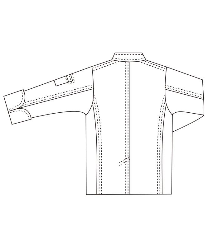 コットンツイルコックコート長袖[男女兼用][チトセ製品] AS8113