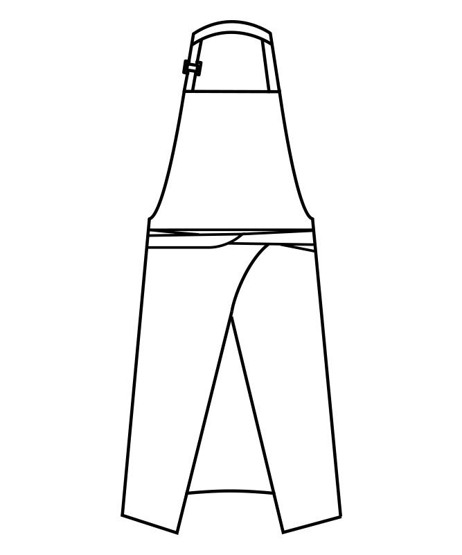 制電ギャバエプロン[男女兼用][住商モンブラン製品] 5-84