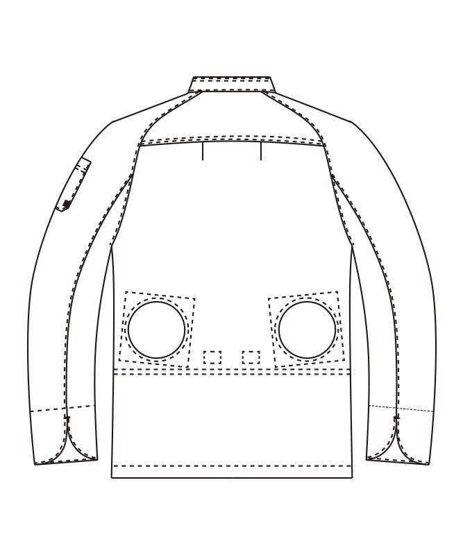 空調服(TM)コックコート長袖(機器別売)[男女兼用][チトセ製品] KC8716