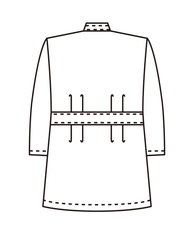 ポプリンレディス横掛け七分袖[KAZEN製品] 361-7