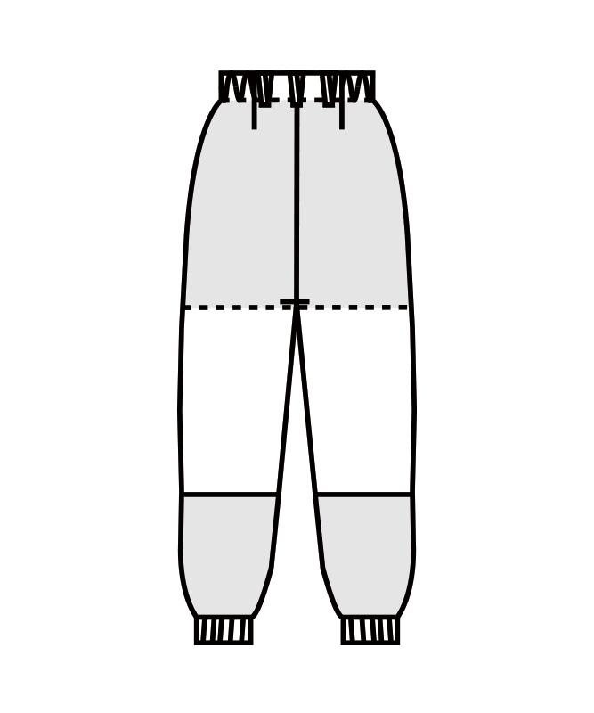 パンツ(ノータック・両脇ゴム)[男女兼用][住商モンブラン製品] KT7701-9