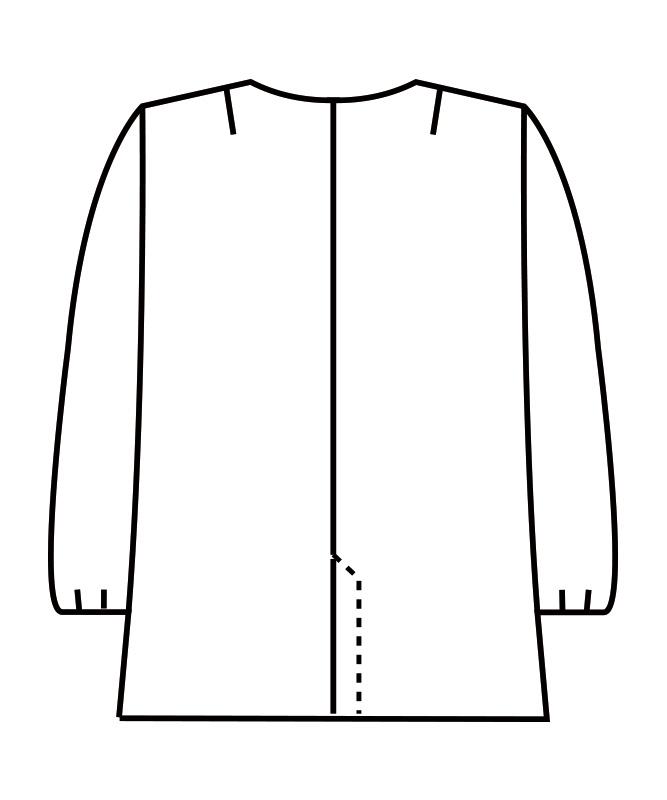 調理衣レディス(ゴム入り)長袖[住商モンブラン製品] 1-021