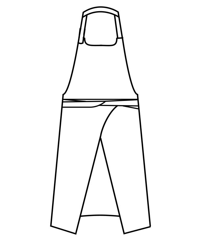 首かけエプロン[男女兼用][住商モンブラン製品] 5-86
