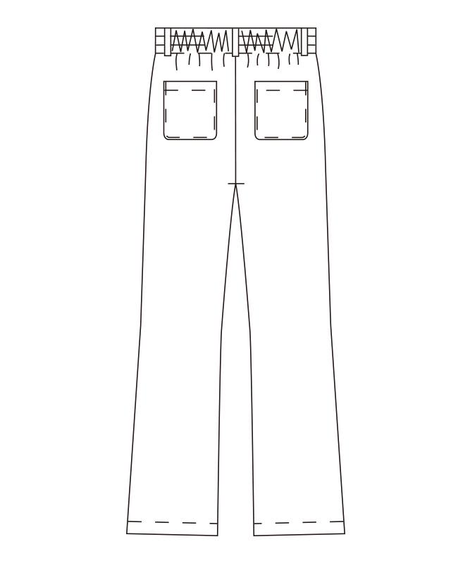 ストライプイージーパンツ[男女兼用][チトセ製品] AS6002