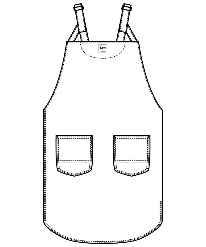 Leeチュニックエプロン[男女兼用][ボンマックス製品] LCK79013