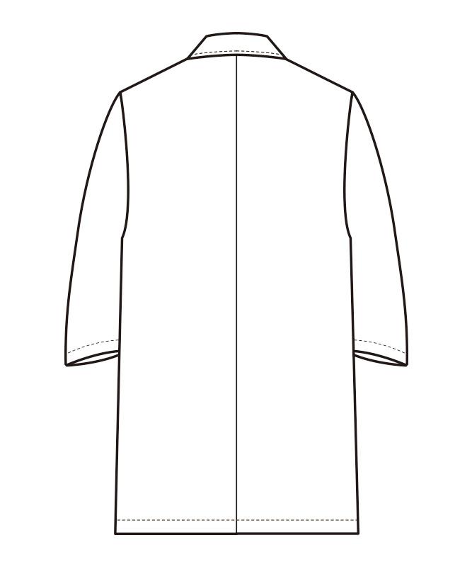 調理白衣七分袖(抗菌コート)[男性用][セブンユニフォーム製品] AA319