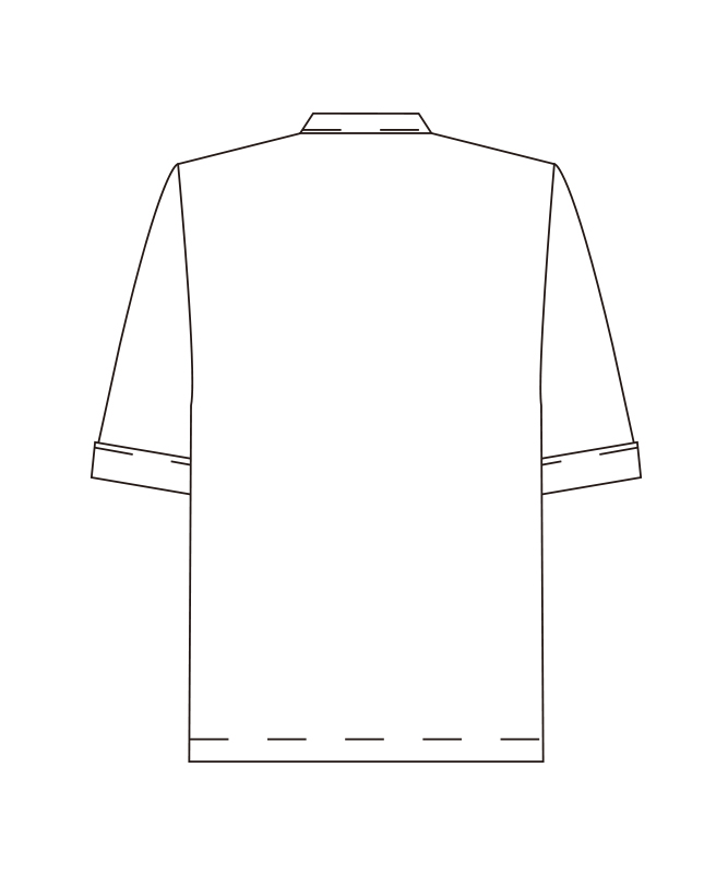 ポプリンコックシャツ七分袖[男女兼用][チトセ製品] AS6021