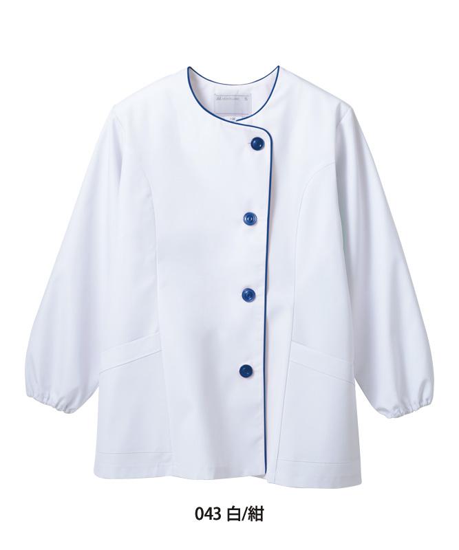 調理衣レディス(ゴム入り)長袖[住商モンブラン製品] 1-04