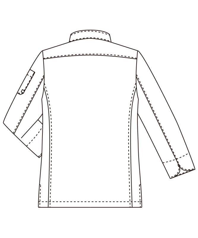 コックコート長袖[男女兼用][チトセ製品] AS8708