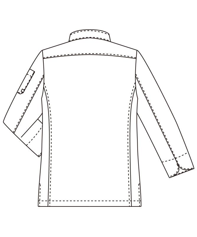 コックコート長袖[男女兼用][チトセ製品] AS8709