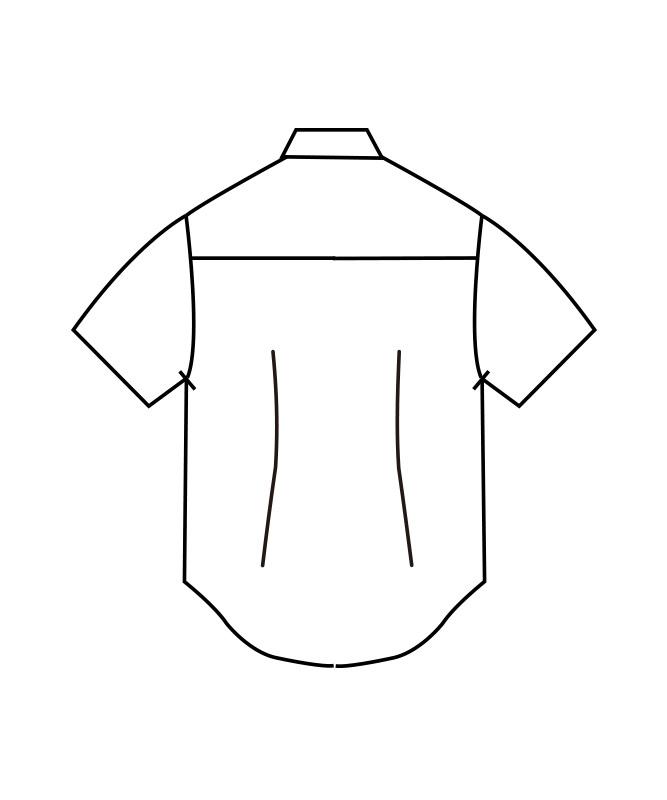 ボタンダウンシャツ半袖[男女兼用][住商モンブラン製品] CX2504