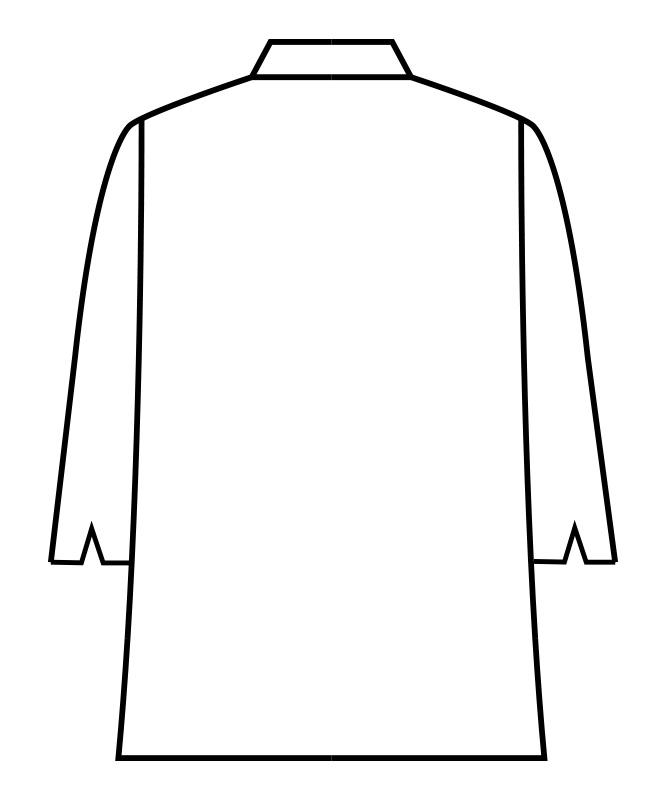 デニムコックコート七分袖[男女兼用][住商モンブラン製品] 6-110