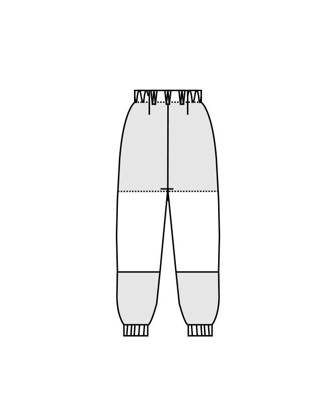 ネオクロスガードパンツ(ノータック・両脇ゴム)[男女兼用][住商モンブラン製品] DA7701