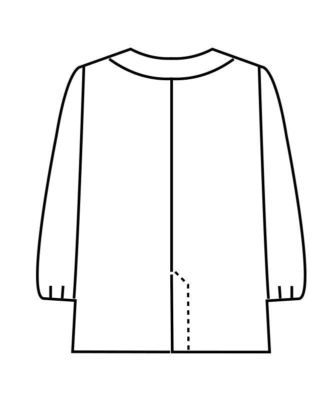 調理衣レディス(ゴム入り)長袖[住商モンブラン製品] 1-09