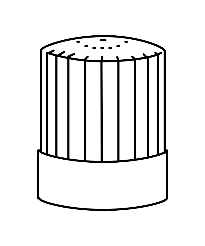 チーフコック帽(30cm)[男女兼用][住商モンブラン製品] 9-631