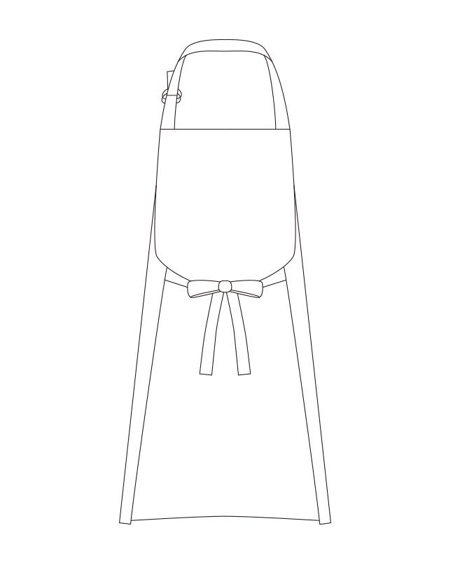 首掛けエプロン[チトセ製品] T62