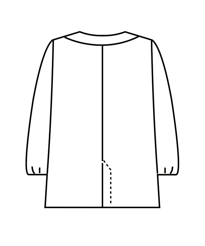 調理衣レディス(ゴム入り)長袖[住商モンブラン製品] 1-16