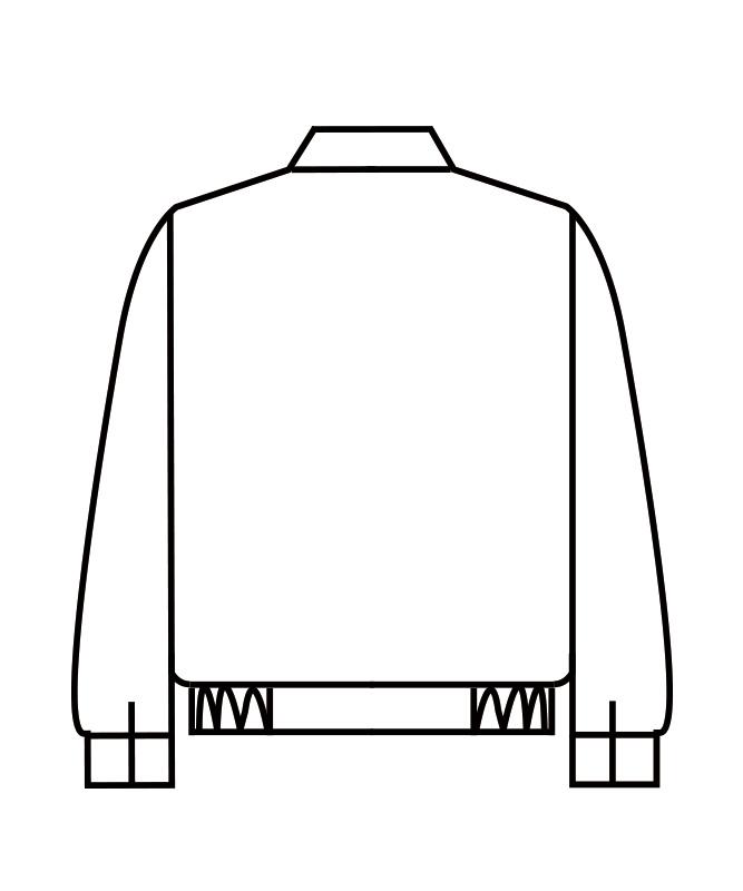 制電単糸ツイルジャンパー長袖[男女兼用][住商モンブラン製品] 8-601