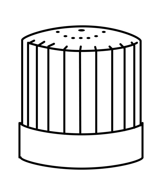 コック帽(25cm)[男女兼用][住商モンブラン製品] 9-635