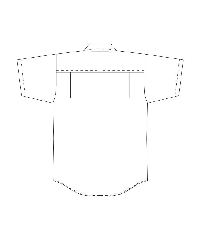 ボタンダウンシャツ半袖(ストライプ)[男女兼用][チトセ製品] EP8367
