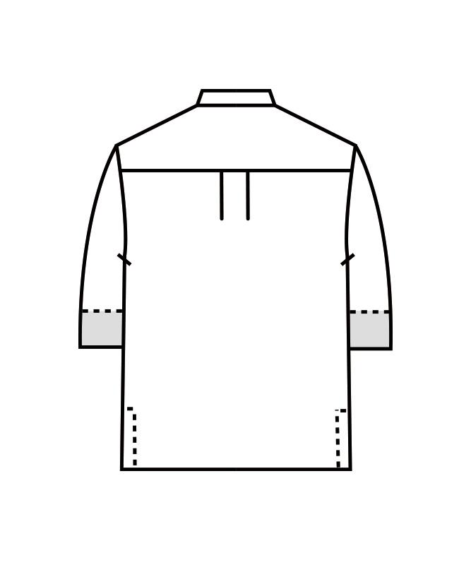 コックコート七分袖(袖口ネット付)[男女兼用][住商モンブラン製品] 6-47