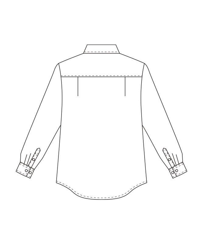 ワイドカラーシャツ長袖(ストライプ)[男女兼用][チトセ製品] EP8368