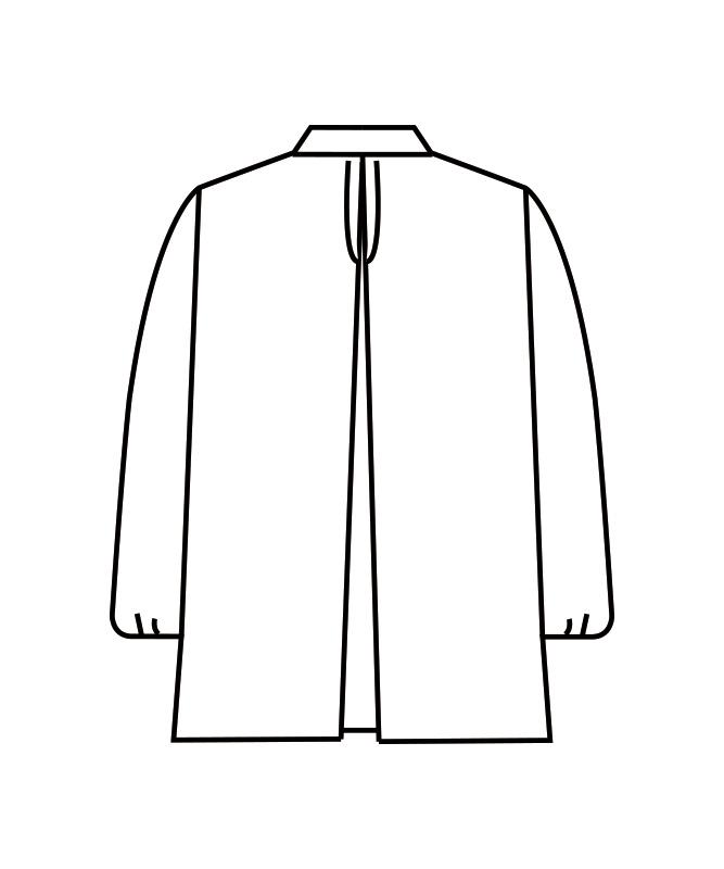 調理衣レディス(ゴム入り)長袖[住商モンブラン製品] 1-401