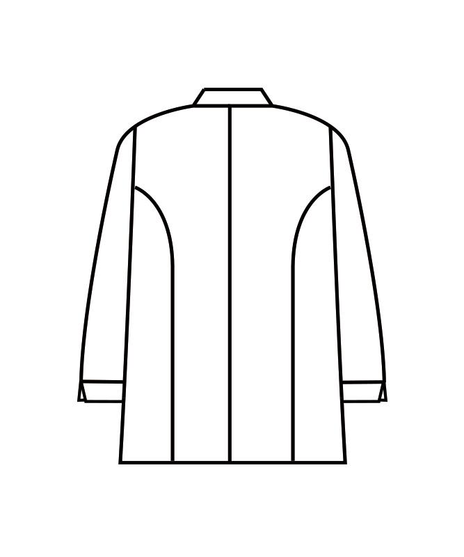 コックコート長袖(ギンガムチェック)[男女兼用][住商モンブラン製品] 6-49