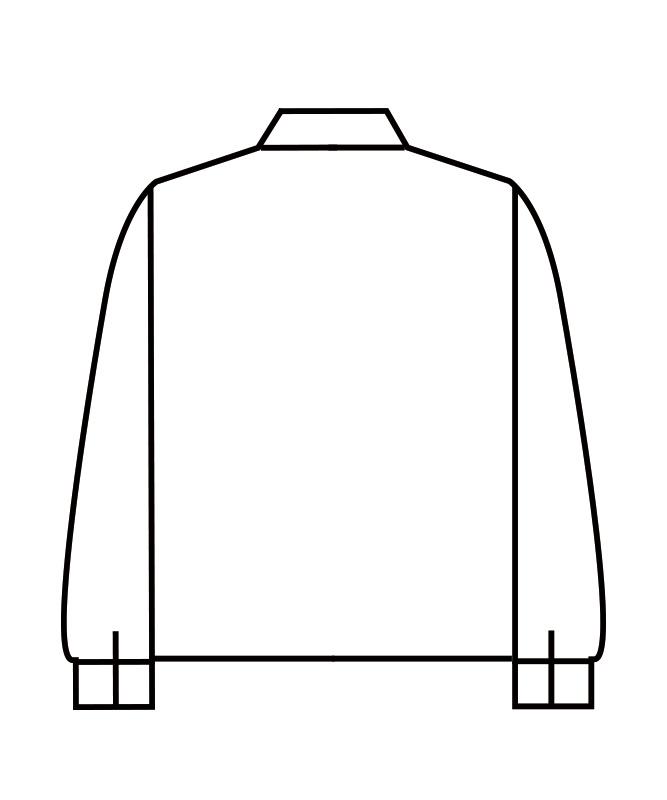 制電単糸ツイルジャンパー長袖[男女兼用][住商モンブラン製品] 8-611