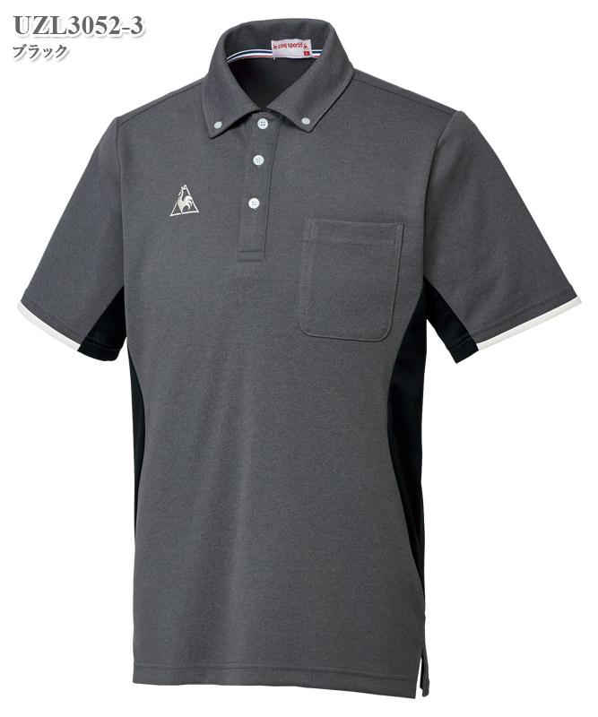 ルコックスポルティフ男女兼用ボタンダウンシャツ半袖[lecoq製品] UZL3052