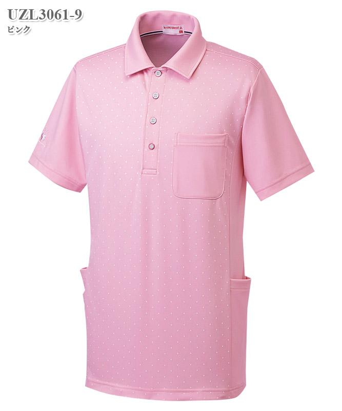 ルコックスポルティフ男女兼用ニットシャツ半袖[lecoq製品] UZL3061